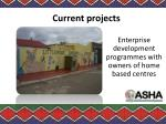 enterprise development programmes with owners of home based centres