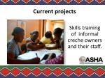 skills training of informal creche owners and their staff