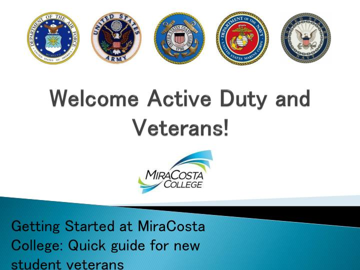 welcome active duty and veterans n.