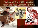stalin and the ussr defeated hitler and nazi germany in wwii