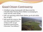 good citizen controversy