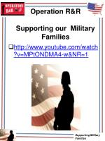 operation r r supporting our military families
