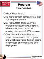 program successes