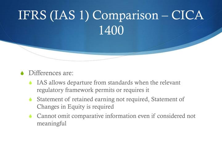 IFRS (IAS 1) Comparison – CICA 1400