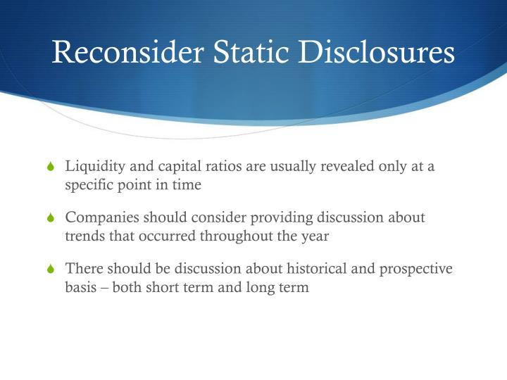 Reconsider Static