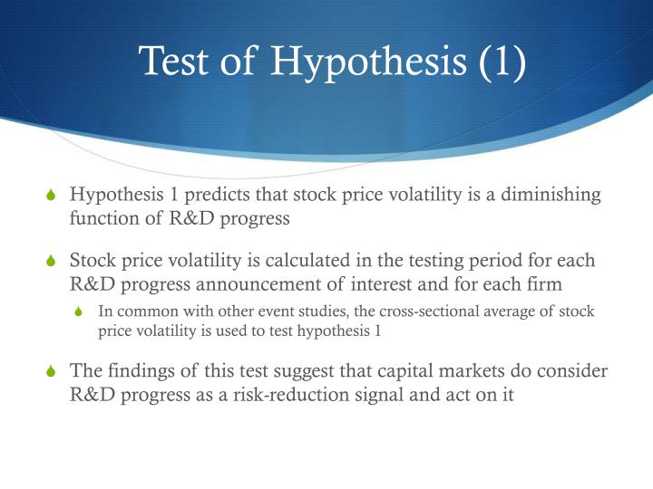Test of Hypothesis (1)