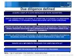 due diligence defined