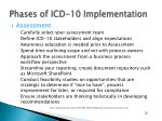phases of icd 10 implementation1