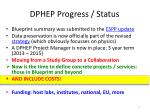 dphep progress status1