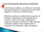 local community recovery coalitions