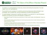 the vision of the office of nuclear physics