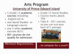 arts program university of prince edward island