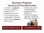 business program university of prince edward island