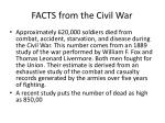 facts from the civil war
