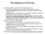 the balance of forces