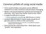 common pitfalls of using social media