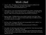 work cited