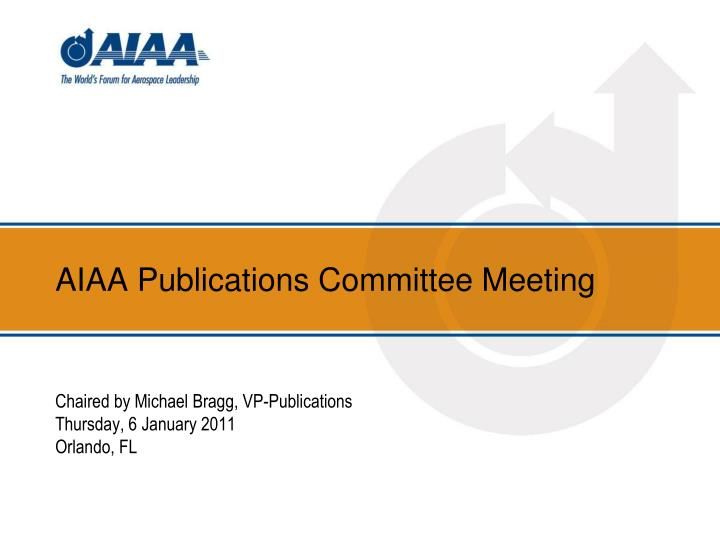 aiaa publications committee meeting n.