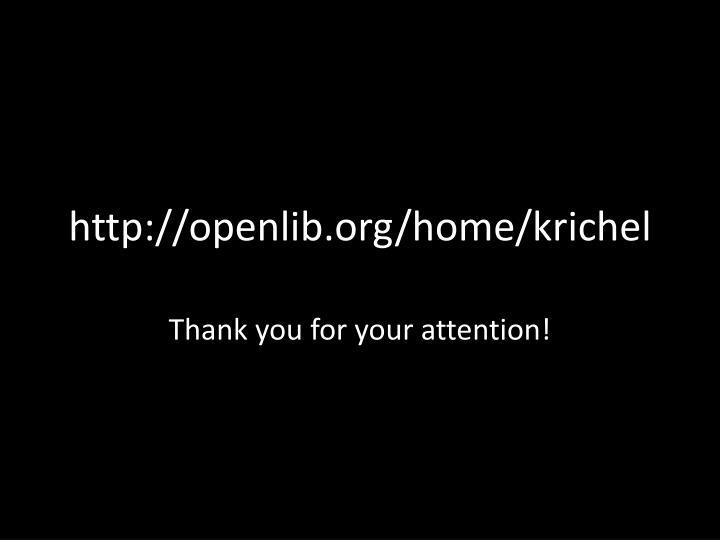 http://openlib.org/home/krichel