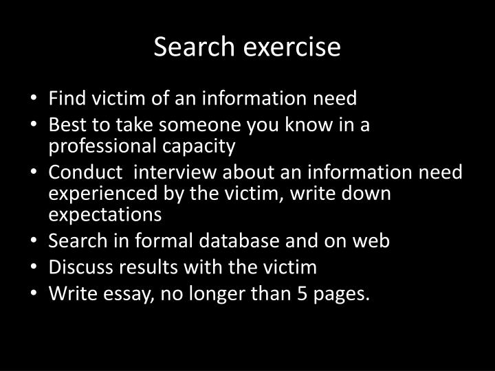 Search exercise