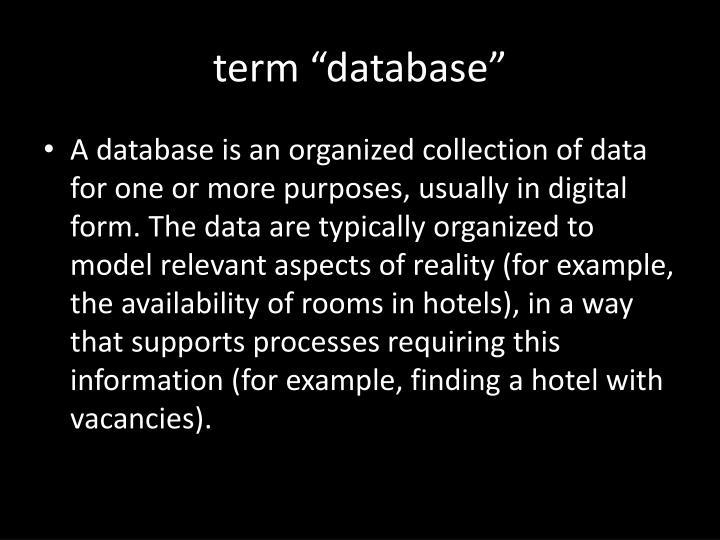 "term ""database"""