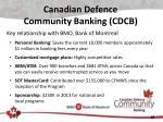 canadian defence community banking cdcb