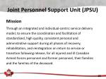 joint personnel support unit jpsu