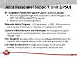 joint personnel support unit jpsu1