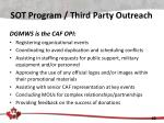 sot program third party outreach