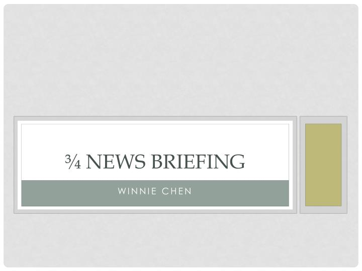 news briefing n.