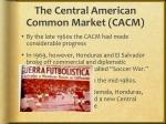 the central american common market cacm