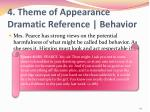 4 theme of appearance dramatic reference behavior