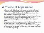 4 theme of appearance