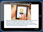 intuit quickbooks online for ipad