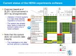 current status of the hera experiments software