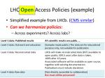 lhc open access policies example