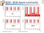 bcm bcid aware luminosity