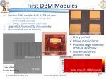 first dbm modules