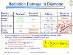 radiation damage in diamond