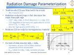 radiation damage parameterization