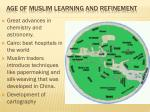 age of muslim learning and refinement2