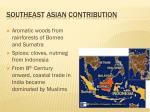 southeast asian contribution