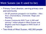 west sussex as it used to be