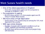 west sussex health needs