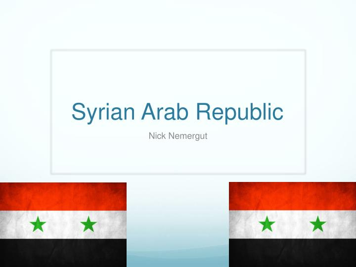 syrian arab republic n.