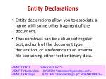 entity declarations