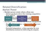 related diversification market power