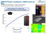 ansys fluent scaling to 3000 cores on xe6