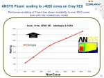 ansys fluent scaling to 4000 cores on cray xe6
