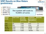 wrf results on blue waters preliminary